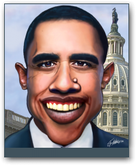 Obama by Noogman  » Click to zoom ->
