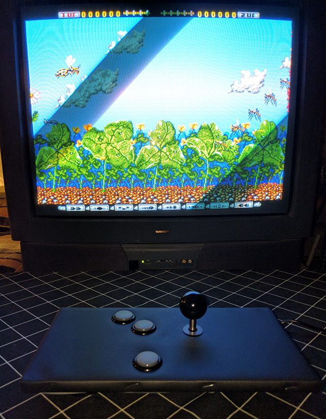 Amiga game Apidya with custom joystick